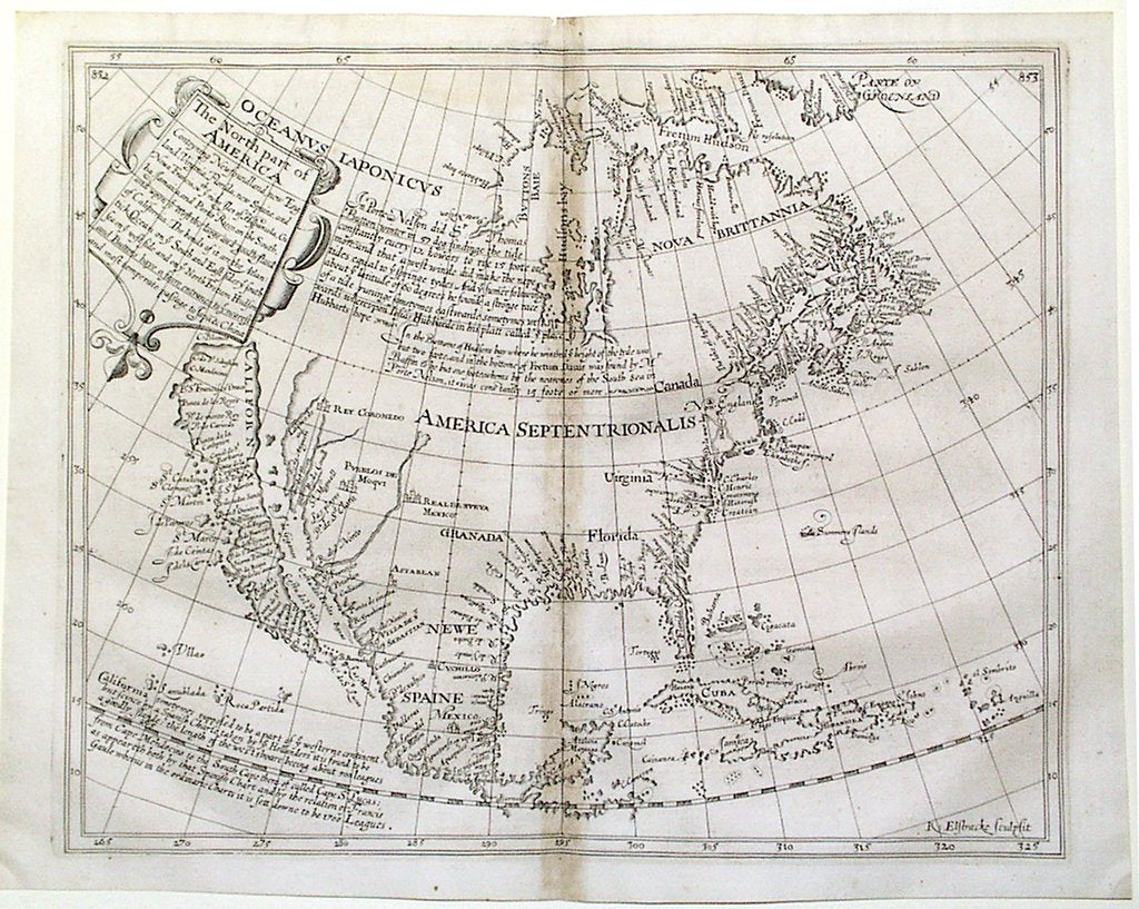 BRIGGS, Henry (1561-1631). The North Part of America From Hakluytus Posthumus. London: William Stanley for Henrie Featherstone, 1625-1626.