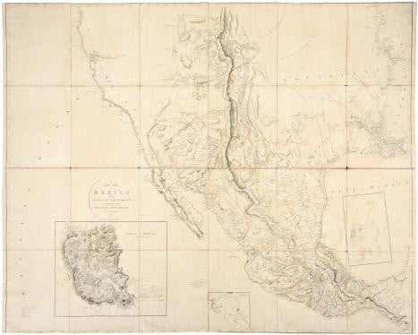 ARROWSMITH, Aaron (1750-1823). A New Map of Mexico and Adjacent Provinces Compiled from Original Documents by A. Arrowsmith 1810. London: A. Arrowsmith 10 Soho Square, 5th October 1810.