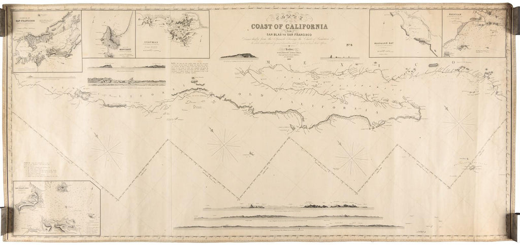 IMRAY, James (1803–1870). Chart of the Coast of California. London: James Imray, 1849.