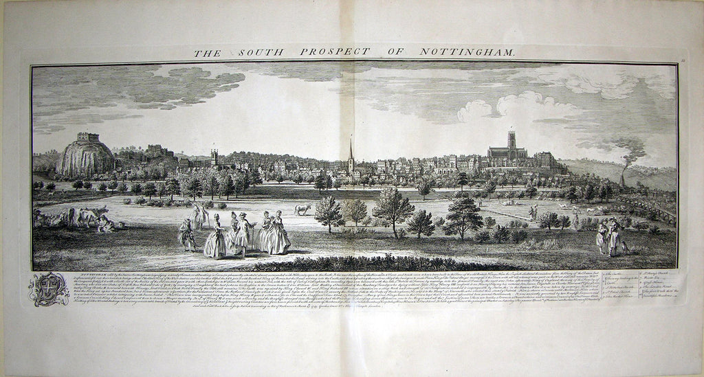 THE SOUTH PROSPECT OF NOTTINGHAM. Buck, Samuel and Nathaniel