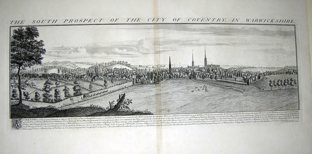 THE SOUTH PROSPECT OF THE CITY OF COVENTRY, IN WARWICKSHIRE Buck, Samuel and Nathaniel