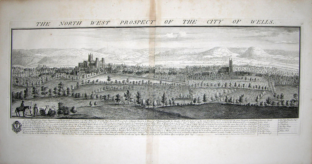 THE NORTH WEST PROSPECT OF THE CITY OF WELLS by Buck, Samuel and Nathaniel Buck