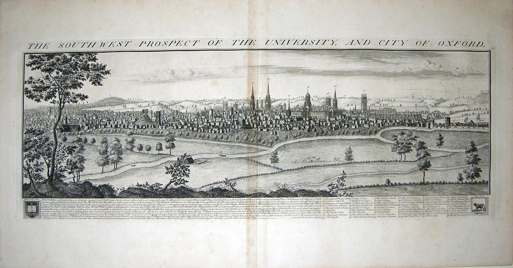 THE SOUTH WEST PROSPECT OF THE UNIVERSITY, AND CITY OF OXFORD by Buck, Samuel and Nathaniel