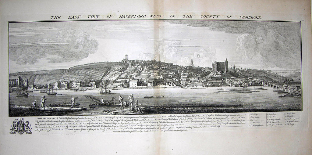 THE EAST VIEW OF HAVERFORD-WEST, IN THE COUNTY OF PEMBROKE Buck, Samuel and Nathaniel