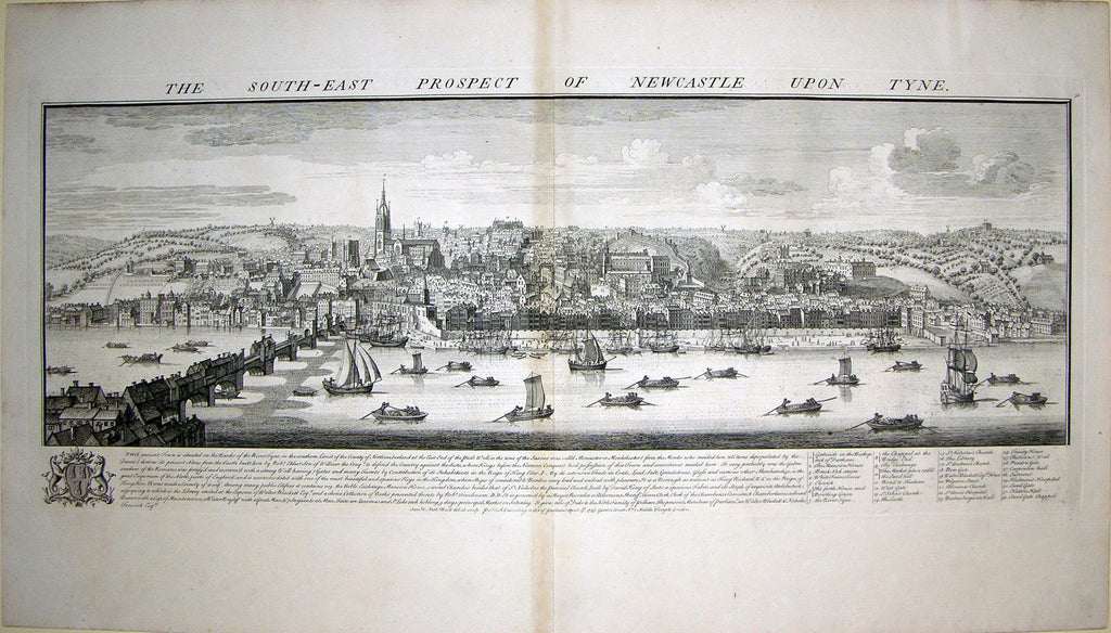 THE SOUTH EAST PROSPECT OF NEWCASTLE UPON TYNE. buck, Samuel and Nathaniel buck