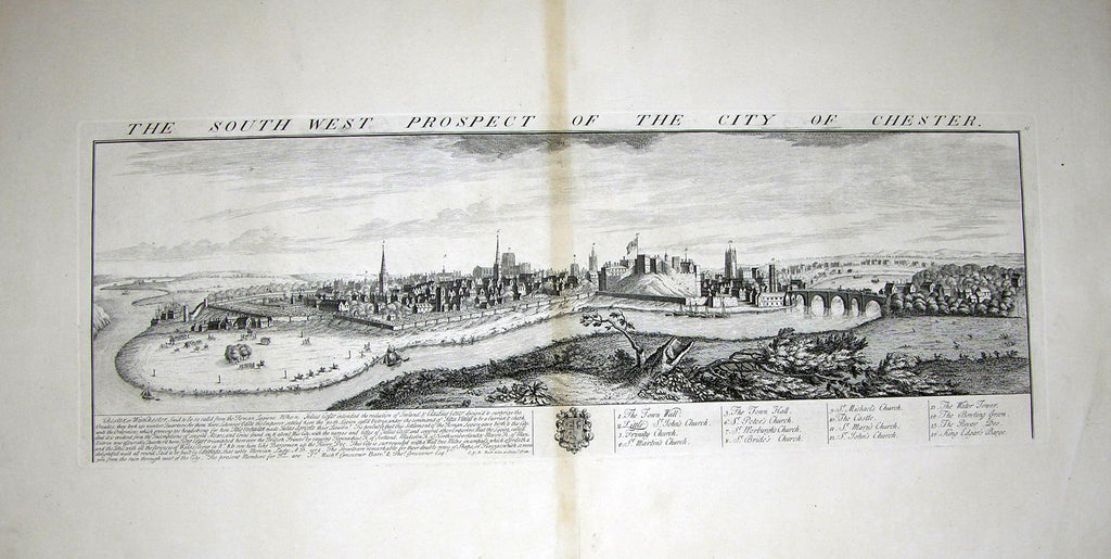 THE SOUTH WEST PROSPECT OF THE CITY OF CHESTER Buck, Samuel and Nathaniel