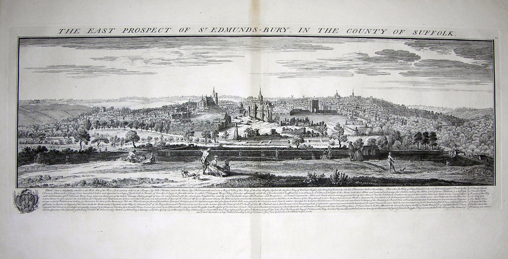 THE EAST PROSPECT OF ST. EDMUNDS-BURY, IN THE COUNTY OF SUFFOLK Buck, Samuel and Nathaniel
