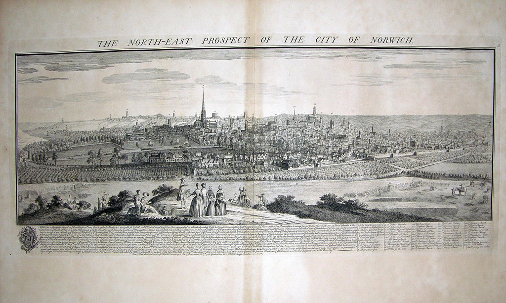 THE NORTH EAST PROSPECT OF THE CITY OF NORWICH. buck, Samuel and Nathaniel buck