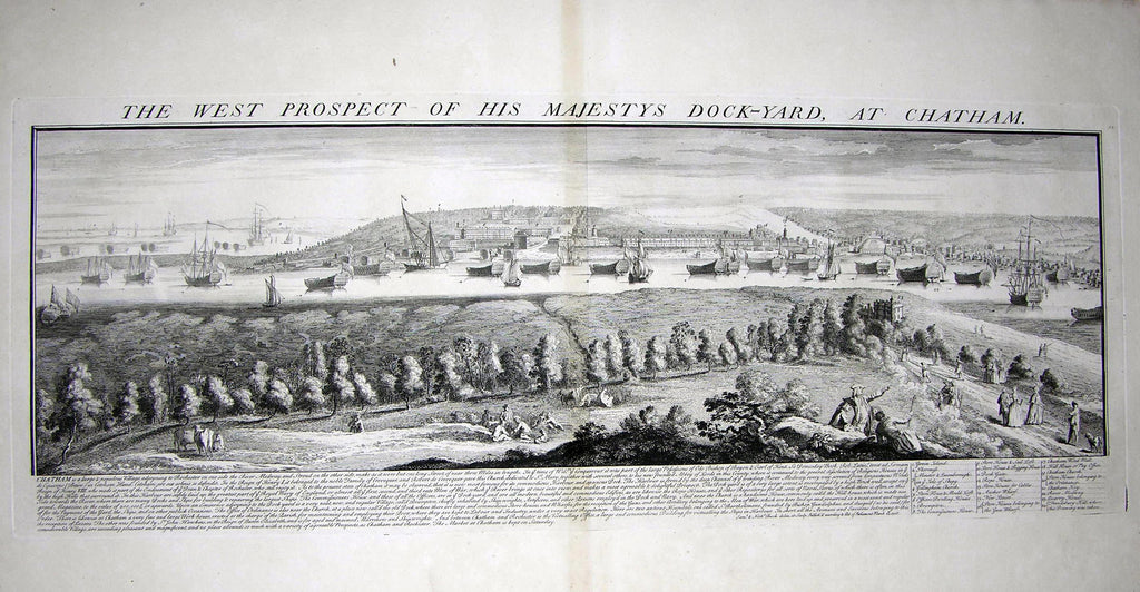 THE WEST PROSPECT OF HIS MAJESTY'S DOCKYARD AT CHATHAM Buck, Samuel and Nathaniel