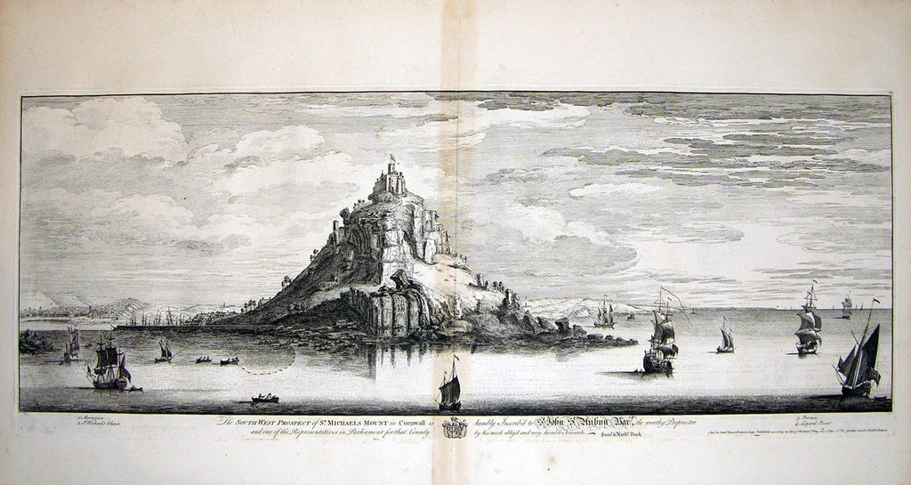 THE SOUTH WEST PROSPECT OF ST.MICHAEL'S MOUNT IN CORNWALL Buck, Samuel and Nathaniel Buck