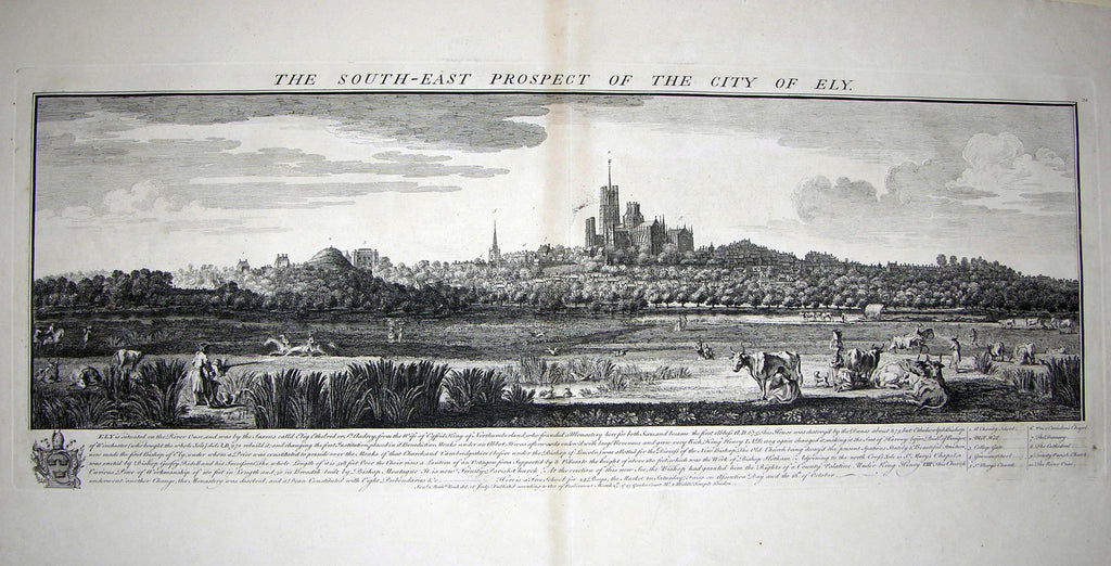 THE SOUTH EAST PROSPECT OF THE CITY OF ELY Buck, Samuel and Nathaniel