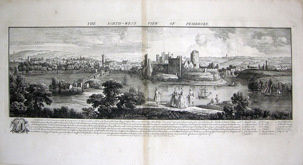 THE NORTH WEST VIEW OF PEMBROKE. Buck, Samuel and Nathaniel