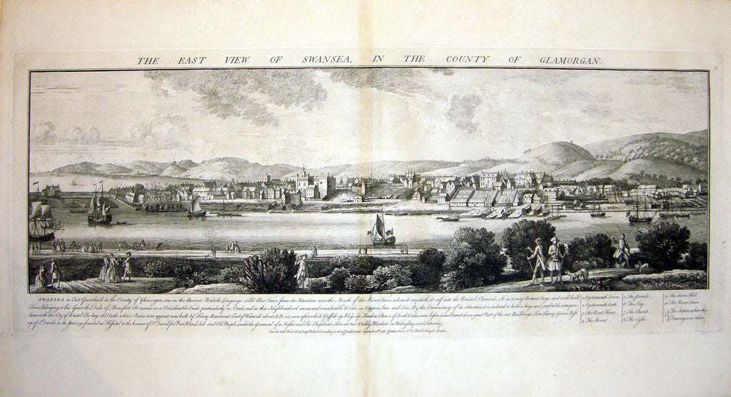 THE EAST VIEW OF SWANSEA, IN THE COUNTY OF GLAMORGAN by Buck, Samuel and Nathaniel Buck