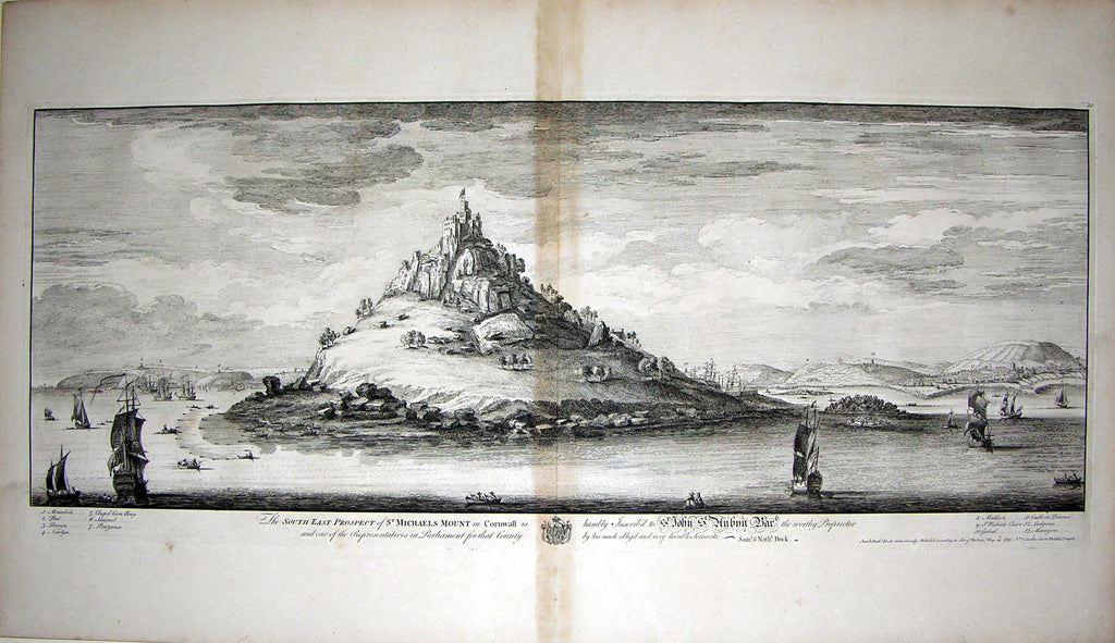 THE SOUTH EAST PROSPECT OF ST.MICHAEL'S MOUNT IN CORNWALL. Buck, Samuel and Nathaniel Buck