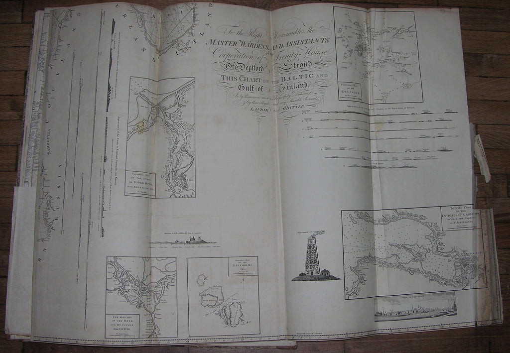 [LAURIE & WHITTLE]. A New and Enlarged Baltic Pilot, Comprehending a Collection of Surveys and General Charts, from London to St. Petersburg... London: Robert Laurie and James Whittle, 1809.