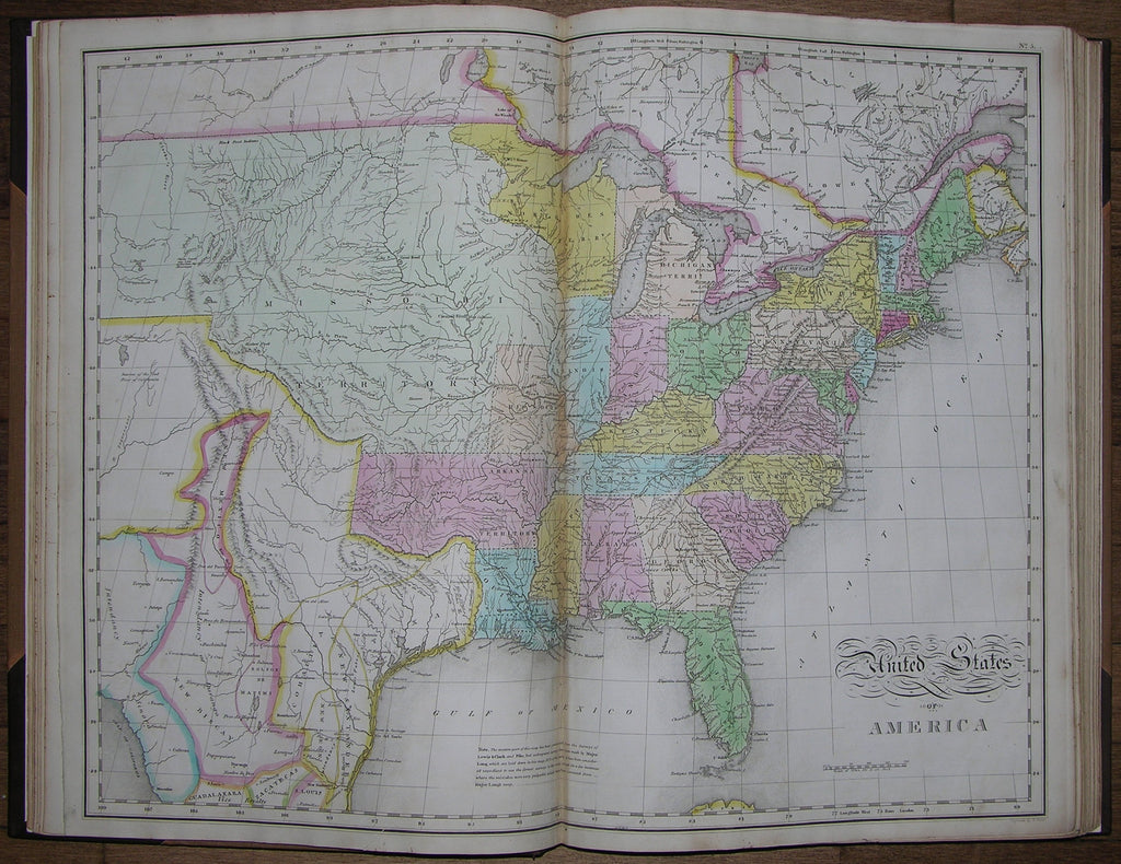 [CAREY AND LEA]. A Complete Historical, Chronological, and Geographical American Atlas, Being a Guide to the History of North and South America, and the West Indies... Philadelphia: H. C. Carey and I. Lea, 1822 [but 1823].