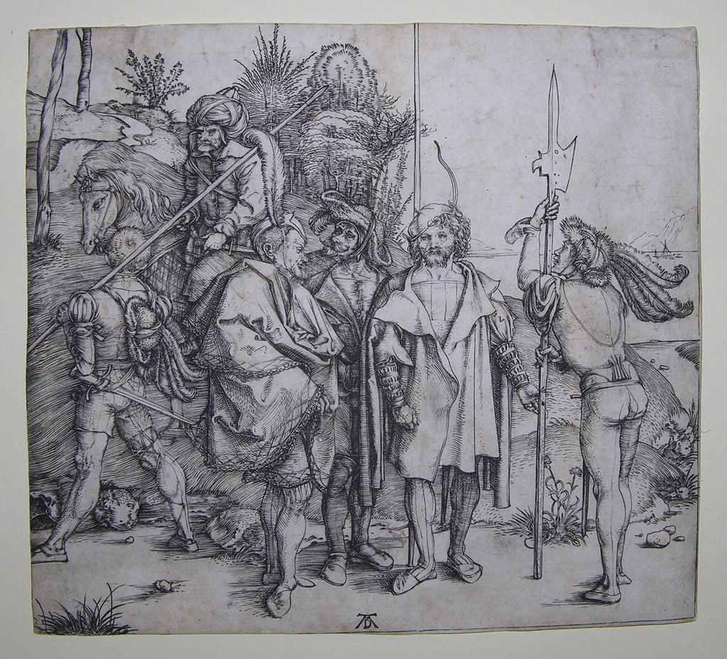 DURER, Albrecht (1471-1528). Five Soldiers and a Turk on Horseback. [?Amsterdam], c. 1495.