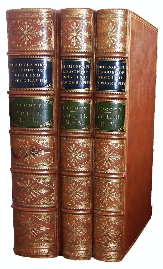 UPCOTT, William (1779-1845). A Bibliographical Account of the Principal Works Relating to English Topography. London: Richard and Arthur Taylor, 1818.