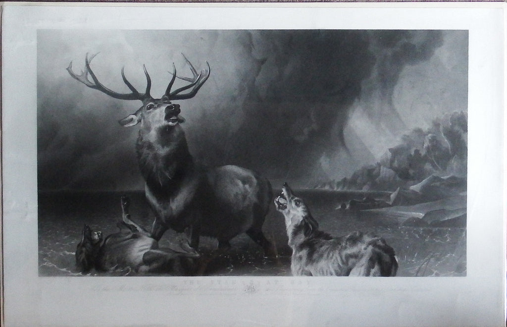 LANDSEER, Sir Edwin Henry (1802-1873) – LANDSEER, Thomas (1795-1880). The Stag at Bay. London: Louis Brall, 1865.