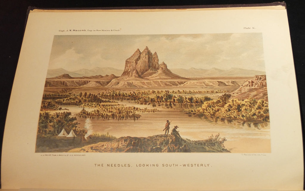 MACOMB, Captain John Navarre (1811-1889). - NEWBERRY, Prof., John Strong (1822-1892). Report of the Exploring Expedition from Santa Fe, New Mexico, to the Junction of the Grand and Green Rivers... Washington: Government Printing Office, 1876.
