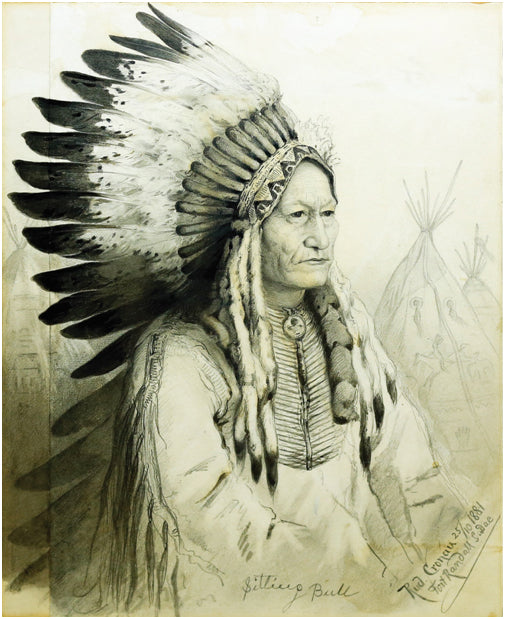 RUDOLF CRONAU (1855 - 1939). TATANKA-IYOTANKA or SITTING BULL, CHIEF OF THE DAKOTAS, WITH AUTOGRAPH, 1881.
