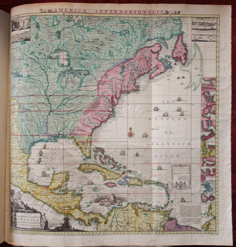 POPPLE Henry d 1743 Map of the British Empire in America with