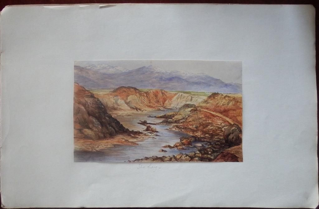 "[PAKISTAN]. Fine Original Watercolour of ""The Lay"". The Punjab: Ca., 1880."