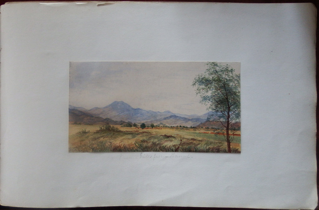 [PAKISTAN]. Fine Original Watercolour of the Murree Hills. The Punjab: Ca., 1880.