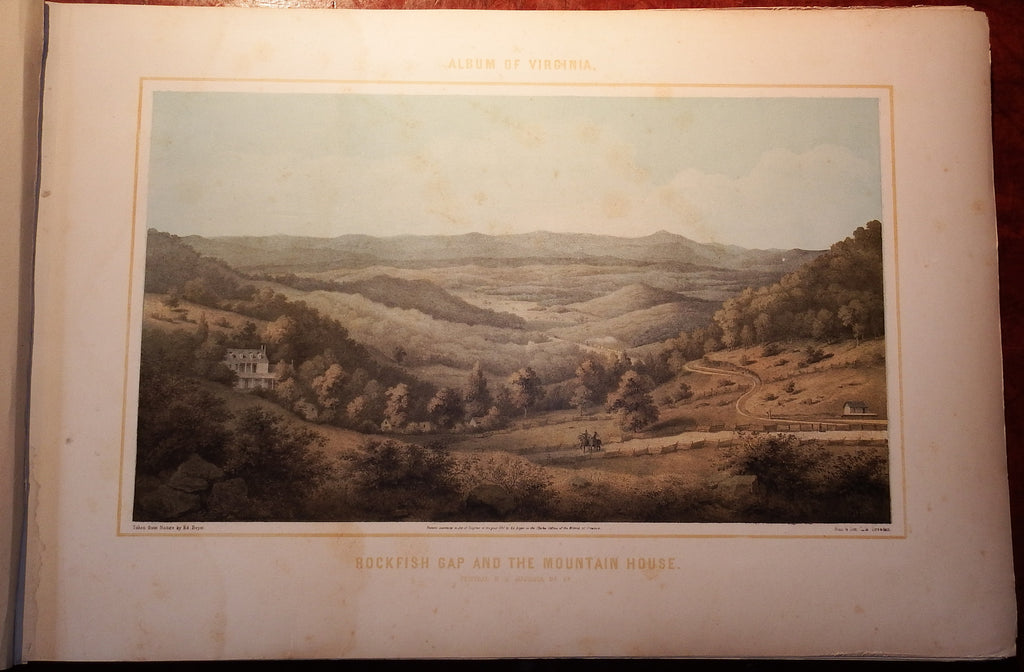 BEYER, Edward (1820-1865). Album of Virginia. [Printed in Dresden and Berlin, copyrighted in Richmond, Virginia]. [1857-] 1858.
