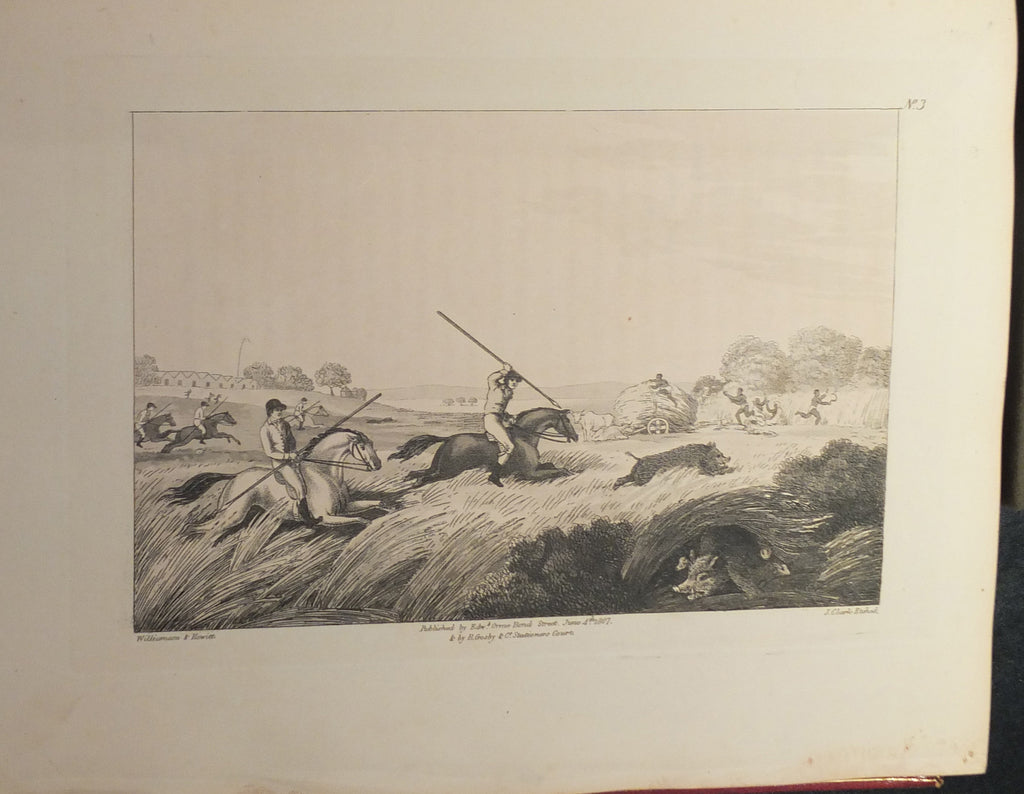 WILLIAMSON, Captain Thomas (1790-1815) and Samuel HOWITT (1765?-1822). Oriental Field Sports; being a complete, detailed, and accurate description of the Wild Sports of the East. London: W. Bulmer for E. Orme and B. Crosby, 1808.
