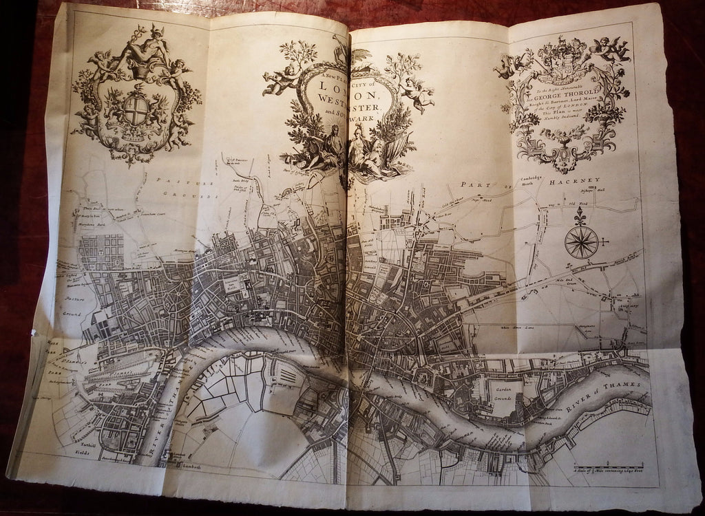 STOW, John (1524/25-1605). A Survey of the Cities of London and Westminster. London: A. Churchill, J. Knapton [and others], 1720.