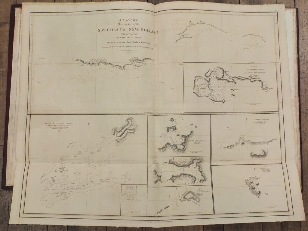 VANCOUVER, George (1757-1798). A Voyage of Discovery to the North Pacific Ocean and Round the World. London: G.G. and J. Robinson, and J. Edwards, 1798.
