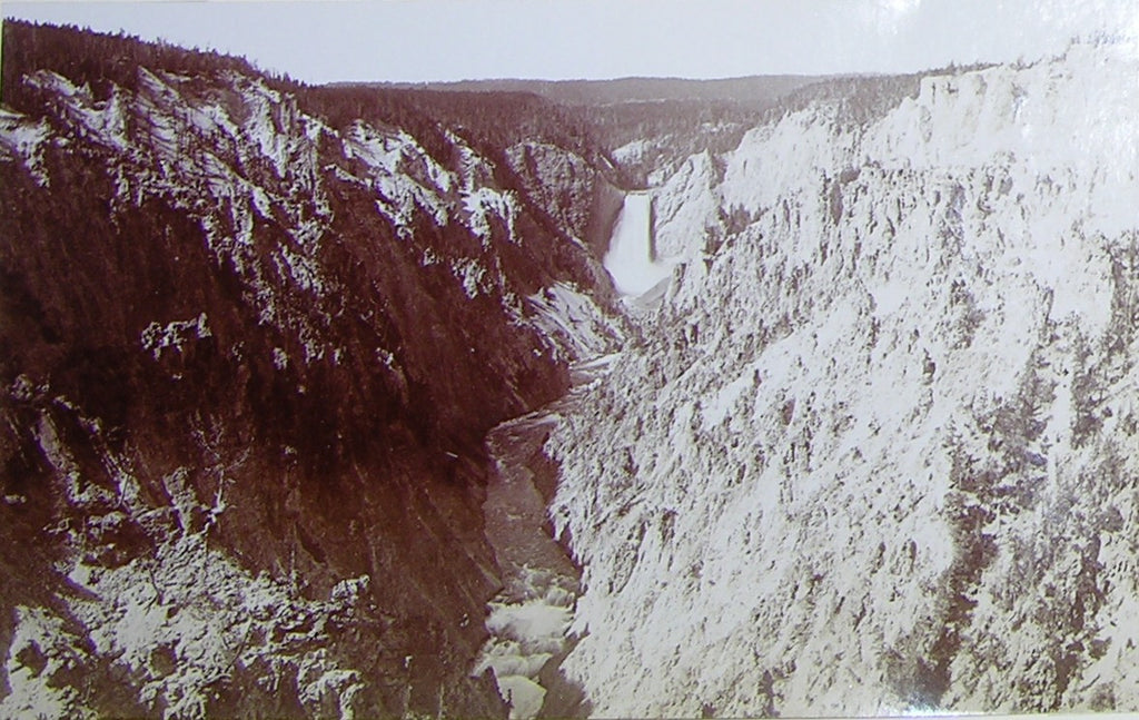 "HAYNES, Frank Jay (1853-1921) - YELLOWSTONE NATIONAL PARK. Fine Photograph of ""Falls and Canyon from Artists Point"". [1887]."
