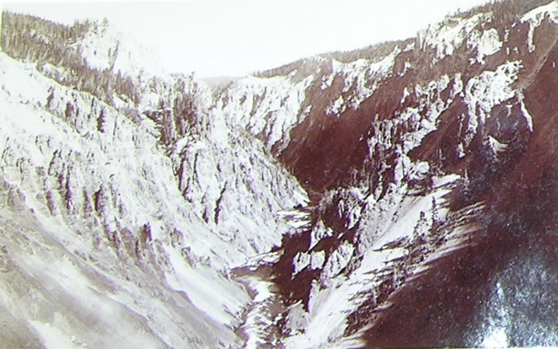"HAYNES, Frank Jay (1853-1921) - YELLOWSTONE NATIONAL PARK. Fine Photograph of ""Grand Canyon from the Brink"". [1887]."