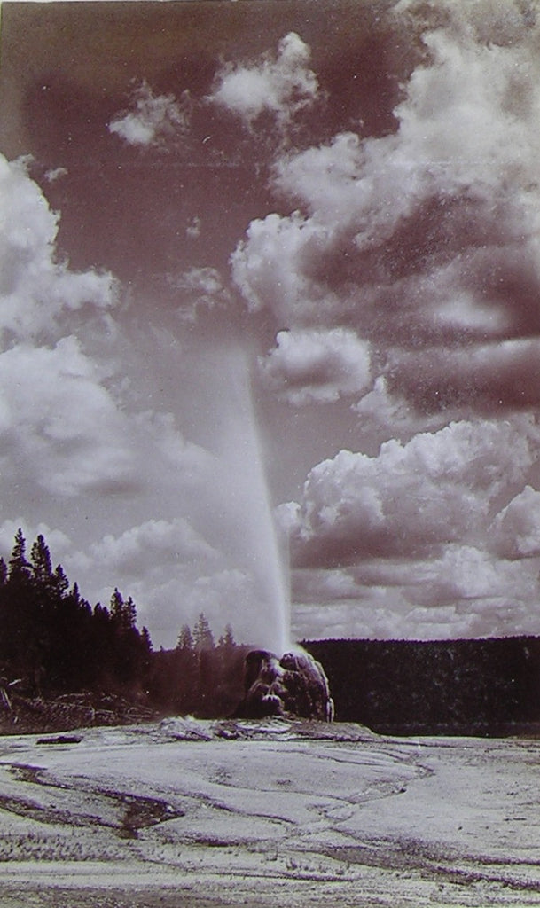 "HAYNES, Frank Jay (1853-1921) - YELLOWSTONE NATIONAL PARK. Fine Photograph of ""Lone Star Geyser"". [1887]."