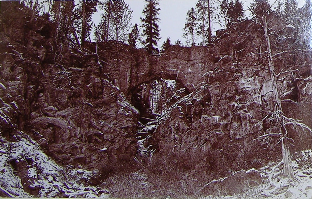 "HAYNES, Frank Jay (1853-1921) - YELLOWSTONE NATIONAL PARK. Fine Photograph of ""Natural Bridge"". [1887]."