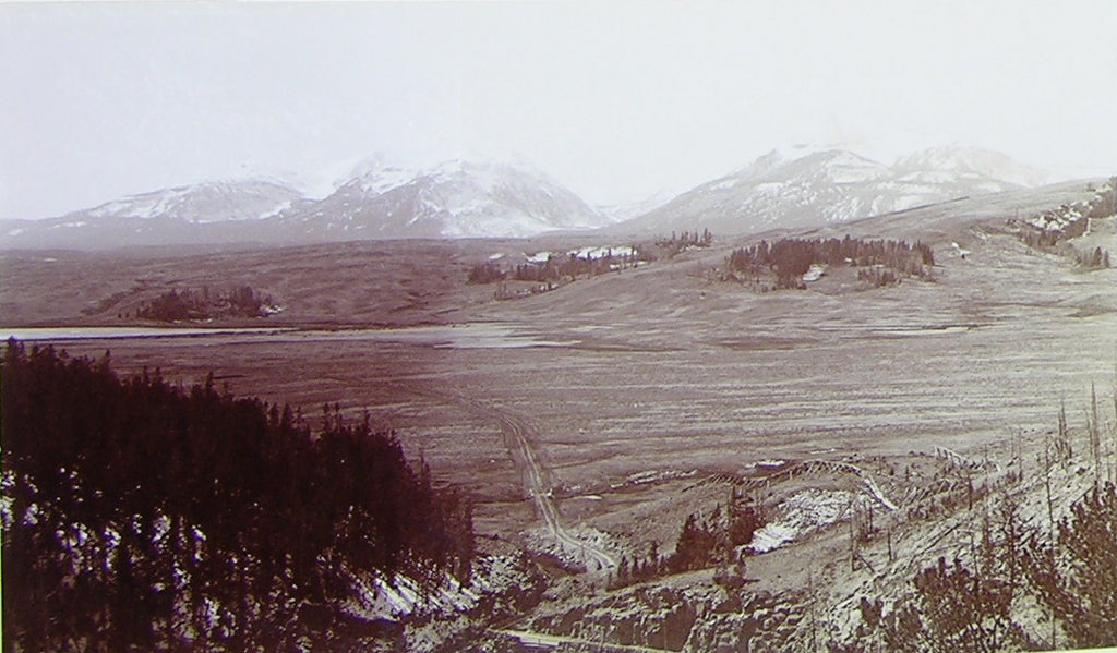 "HAYNES, Frank Jay (1853-1921) - YELLOWSTONE NATIONAL PARK. Fine Photograph of ""Swan Lake Valley - Quadrant"". [1887]."