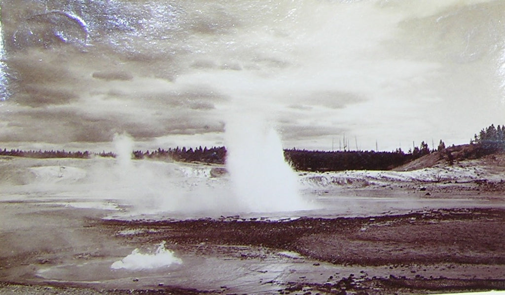 "HAYNES, Frank Jay (1853-1921) - YELLOWSTONE NATIONAL PARK. Fine Photograph of ""Constant Geyser"". [1887]."
