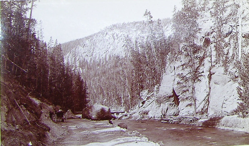 "HAYNES, Frank Jay (1853-1921) - YELLOWSTONE NATIONAL PARK. Fine Photograph of ""Gibbon Canyon"". [1887]."