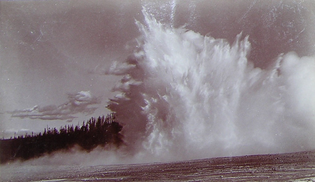 "HAYNES, Frank Jay (1853-1921) - YELLOWSTONE NATIONAL PARK. Fine Photograph of ""Excelsior Geyser"". [1887]."