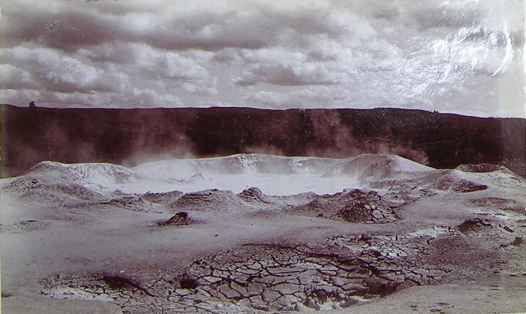 "HAYNES, Frank Jay (1853-1921) - YELLOWSTONE NATIONAL PARK. Fine Photograph of ""Fountain Geyser"". [1887]."
