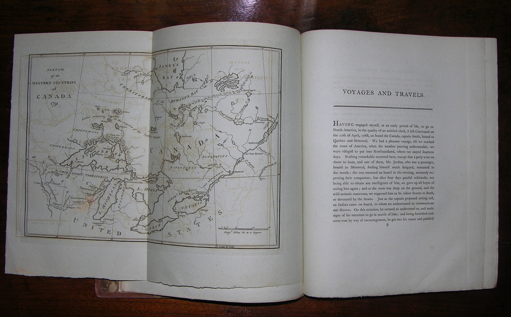 LONG, John (fl. 1768-1791). Voyages and Travels of an Indian Interpreter and Trader. London: Printed for the author; and sold by Robson, Debrett, et al., 1791.