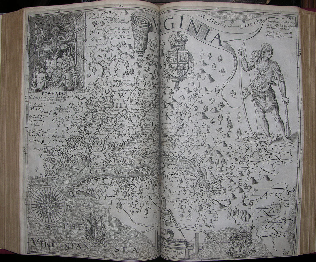 PURCHAS, Samuel (ca 1575-1626). Purchas his Pilgrimes. In five bookes. - Purchase his Pilgrimage. London: William Stansby for Henrie Fetherstone, 1625 - 1626.
