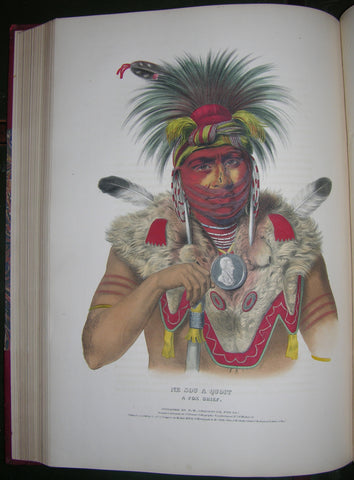 McKENNEY, Thomas L. (1785-1859) and James HALL (1793-1868). History of the Indian Tribes of North America. Philadelphia: Frederick W. Greenough; Daniel Rice & James G. Clark, 1838-1842-1844.