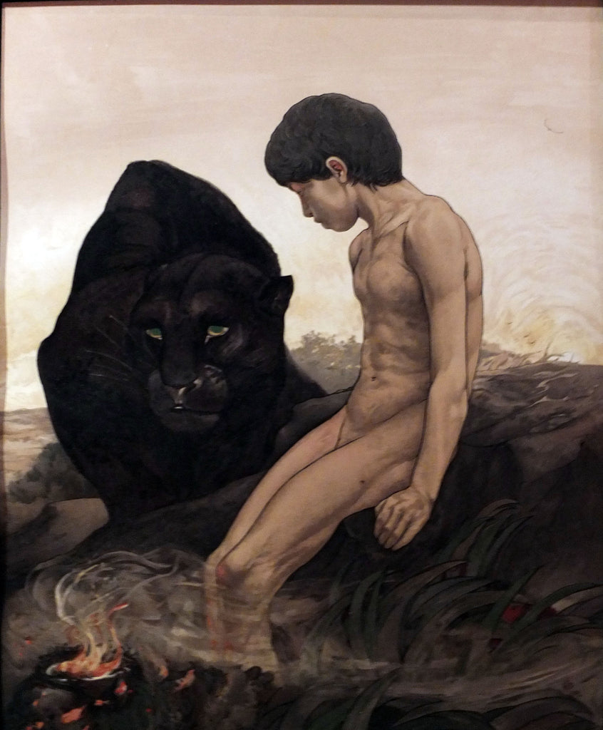 "DETMOLD, Edward (1883-1957), DETMOLD, Maurice (1883-1908). Sixteen Illustrations of Subjects from Kipling's ""Jungle Book."" London: MacMillan and Co., 1903."