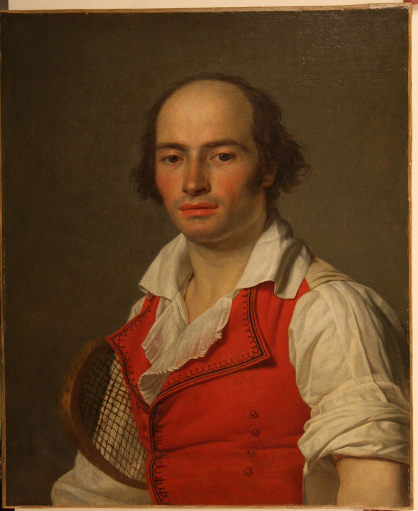 LANEUVILLE, Jean-Louis (1748-1826). Portrait of a Tennis Player (c. 1792).