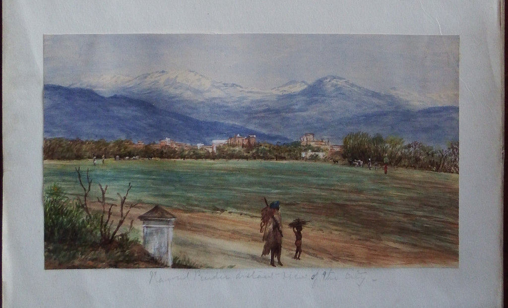 "[PAKISTAN]. Fine Original Watercolour of ""Rawal Pindee"" [ie Rawalpindi]. Ca., 1880."
