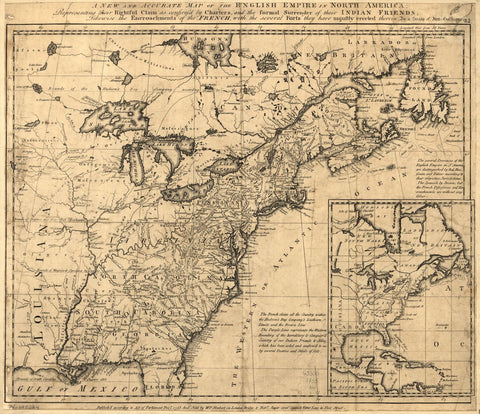 HERBERT, William (1718-1795). A New and Accurate Map of English Empire in North America. London, 1755.