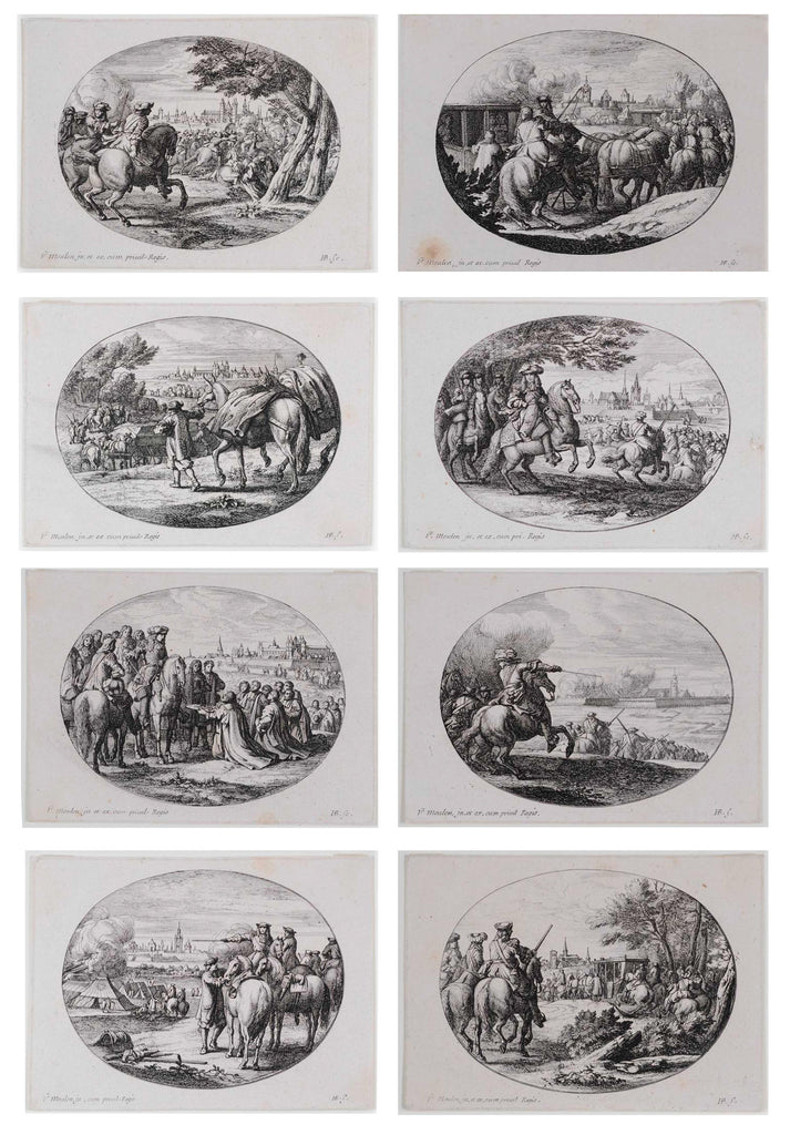 HUCHTENBURG, Jan Van (1647-1733). Military Scenes from the History of Louis XIV. Paris 1667-70, 1667.