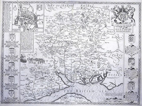 SPEED, John (1552 - 1629). Hantshire, Described and Divided. Amsterdam, c. 1612.
